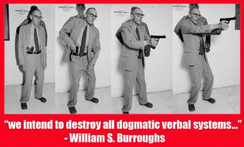 William S. Burroughs Quote T-Shirt. 13 Sizes. Destroy All Verbal Systems